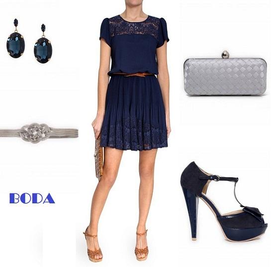 bbe430fe5 Tengo un vestido azul que zapatos me pongo - Vestidos cortos populares