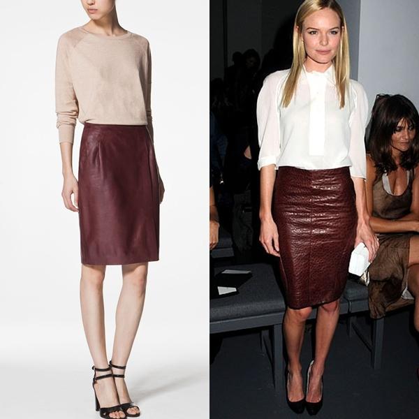 Me encantan las prendas de cuero por su durabilidad. Son para siempre y su  estilo clásico difícilmente pasa de moda. Esta falda lápiz en cuero color  burdeos ... 22a48dba720a