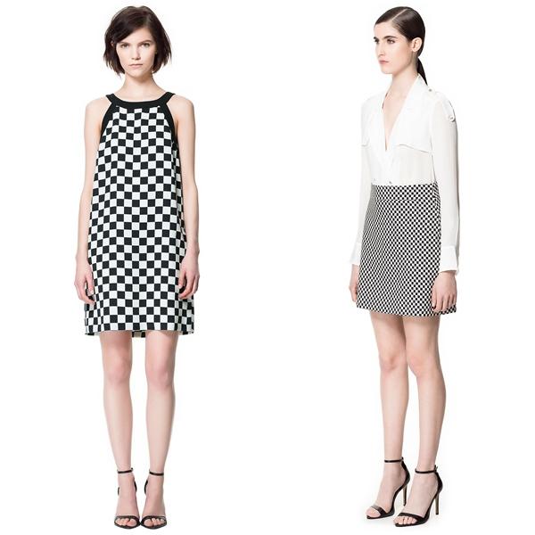 Vestidos blanco y negro de zara