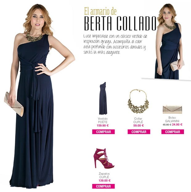 Ideas de looks de boda de Berta Collado