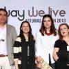 José Manuel López de Scientia, yo misma, Isabel Llano (Isasaweis) y Susana de The Beauty Blog: foto de Mayte Santamaría