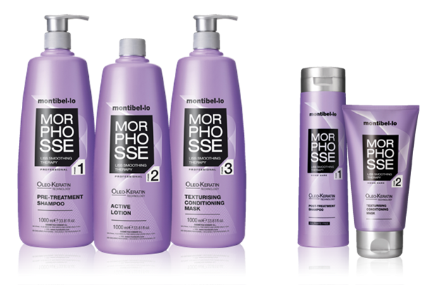 La línea Morphosse de Montibello te ayudará a lograr un pelo liso en casa