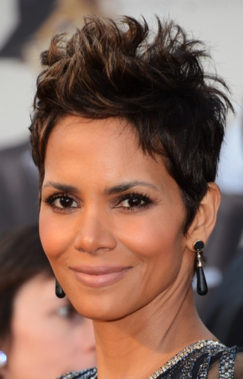 spiky Halle Berry