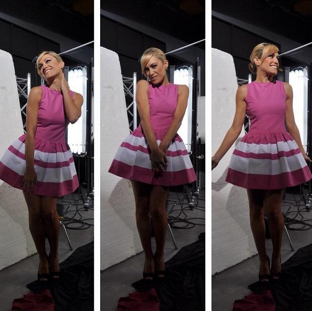vestido rosa lujan