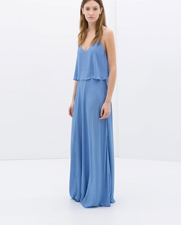 El Capricho Del Día Un Vestido Largo En Azul Bebé Canal Chic