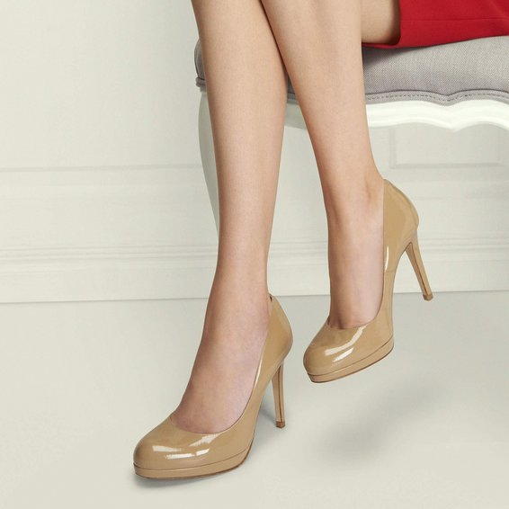 Sledge Patent Leather Platform Court Shoe