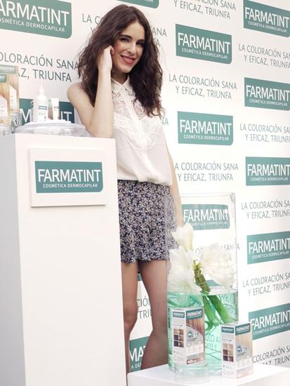 La blogger de Hablamos de moda en la presentación del nuevo Farmatint